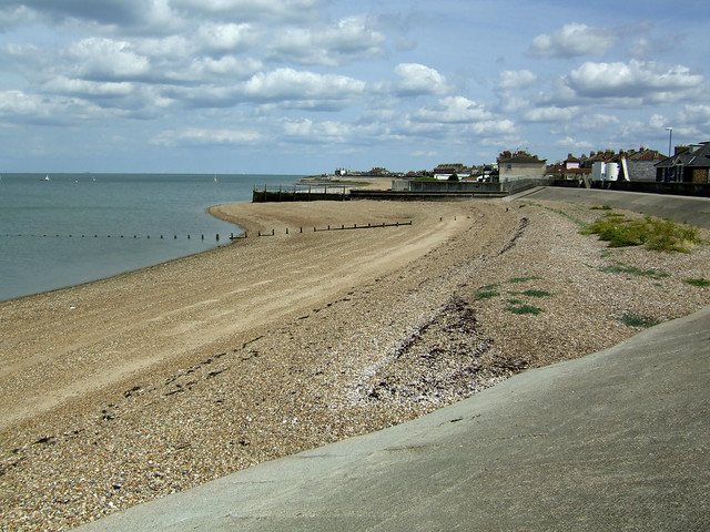 The beach at Sheerness-on-Sea