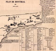 1650-1672. Extrait du Plan de Montréal de 1650 à 1672. P501-1-D013. Archives de la Ville de Montréal.