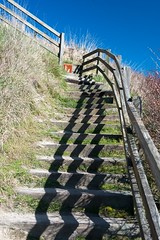 stairway along the bluff trail at Ebey's Landing