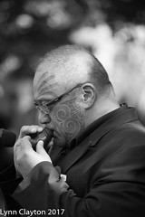 Porouto playing the Maori flute, Newmarket Anzac Parade 2017