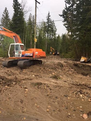 bc flooding highway maintenance recovery riprap roadwork