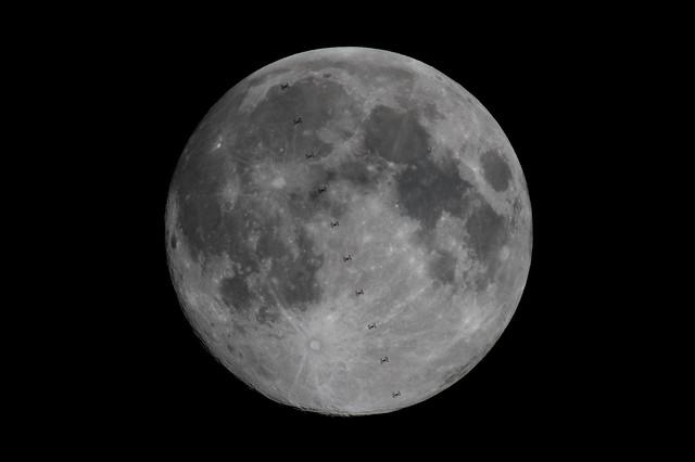 ISS Lunar Transit over, Nikon D500, AF-S Nikkor 300mm f/4E PF ED VR