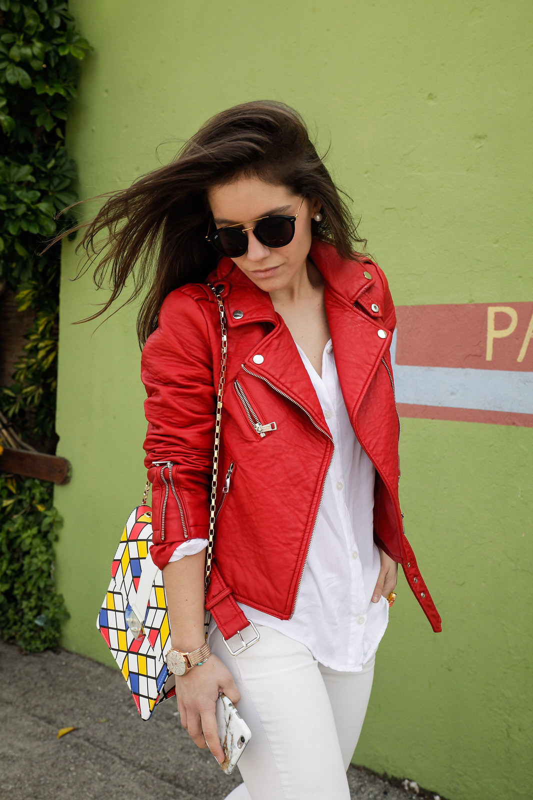 07_Red_Biker_Casual_Look_theguestgirl
