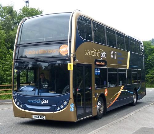 SN65 OFC 'Stagecoach Yorkshire' No. 15192 'Gold X17' Scania N230UD / Alexander Enviro 400 on Dennis Basford's 'railsroadsrunways.blogspot.co.uk'