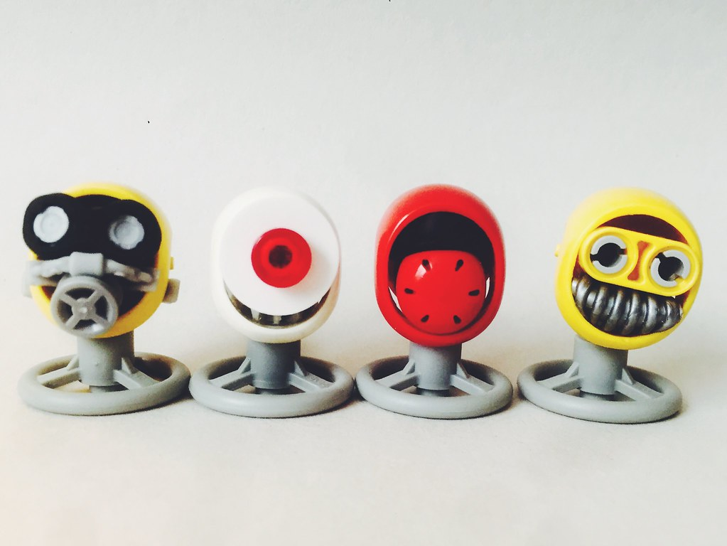 Robot Heads (custom built Lego model)