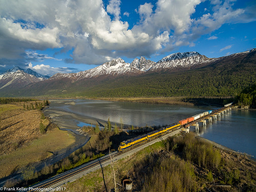 palmer alaska unitedstates us railroads trains knik river chugach mountains
