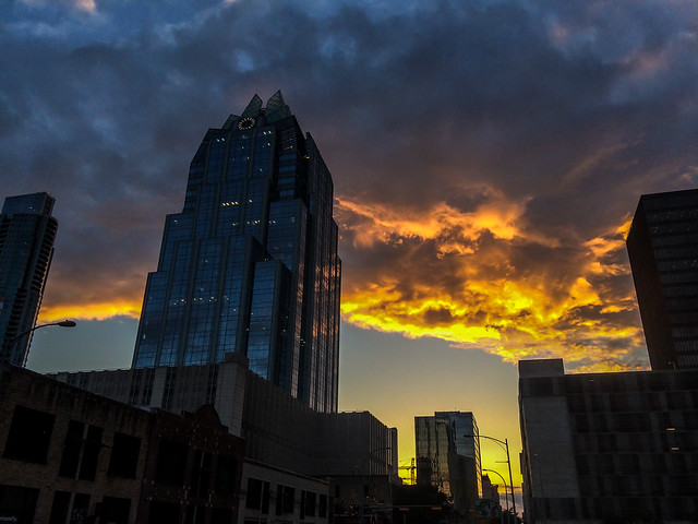 Glorious sunset over lovely Austin