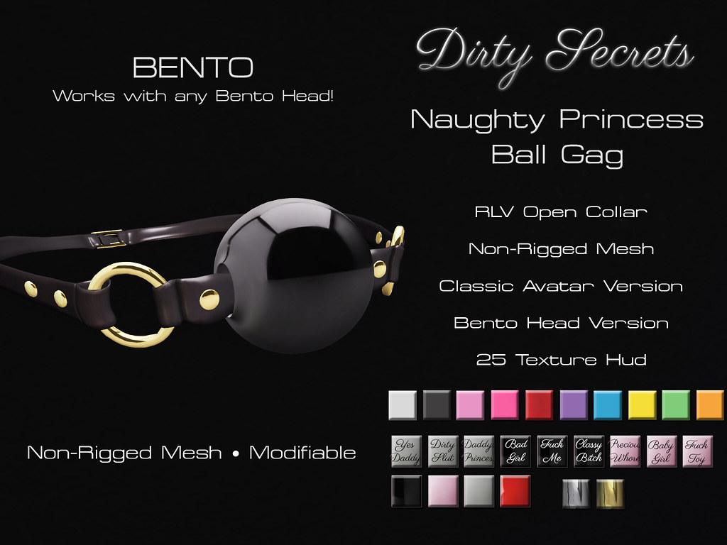 Naughty Princess Ball Gag BENTO Ad - SecondLifeHub.com