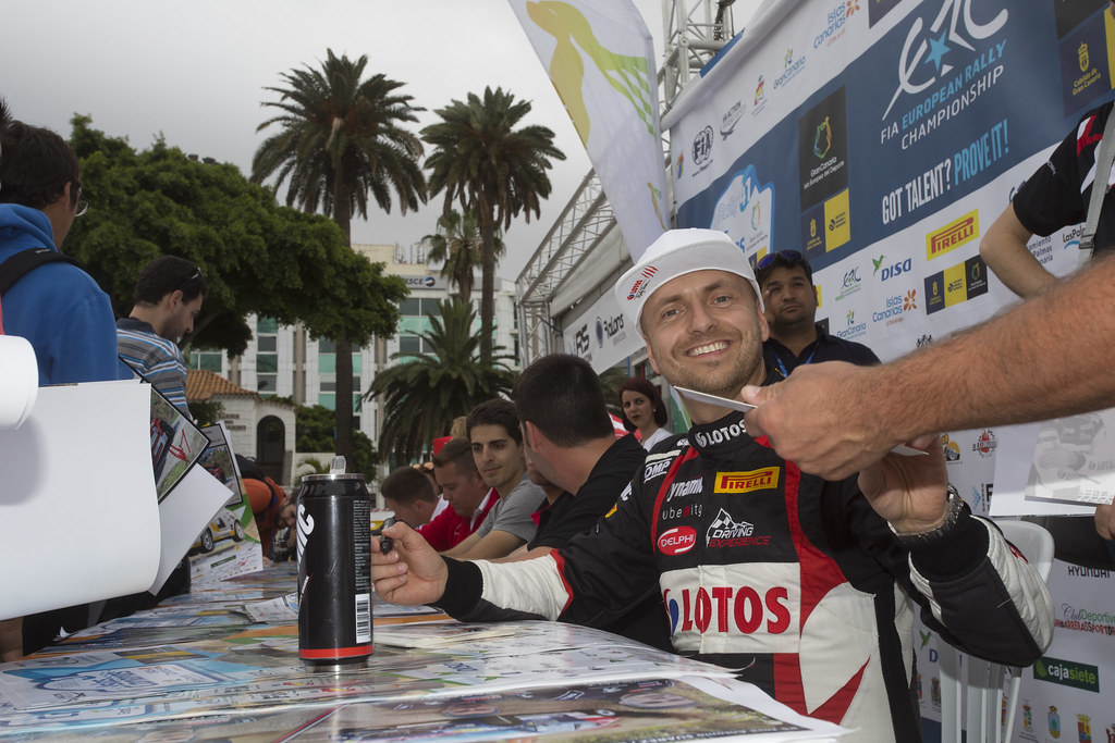 KAJETANOWICZ Kajetan (POL),  BARAN Jaroslaw (Pol), Ford Fiesta R5 , ambiance portrait during the 2017 European Rally Championship ERC Rally Islas Canarias, El Corte Inglés,  from May 4 to 6, at Las Palmas, Spain - Photo Gregory Lenormand / DPPI
