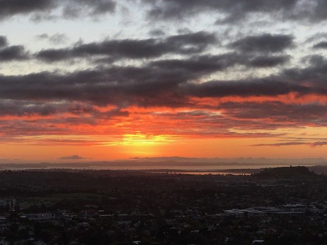 One Tree Hill Sunrise over Auckland