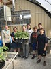 Rep. Marcy Kaptur with Sr. Rita and students from St. John's Jesuit School at the Robert J. Anderson Urban Agriculture Center and Farm in Toledo.