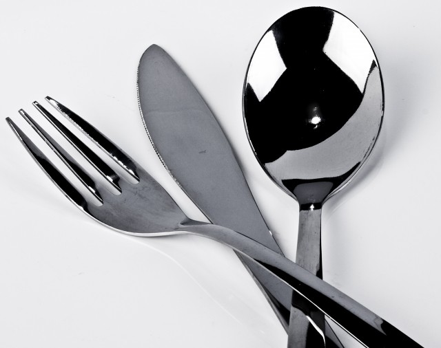 Close-up View of Cutlery