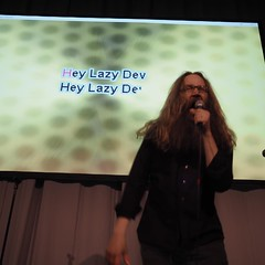 "Making a fool of myself in #nordicgame Marioke With Nirvana's ""Lithium"" Marioke version... yeah! Apologies included in this posting."
