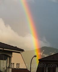 Rainbow over Weggis, Switzerland