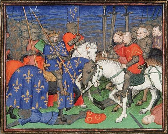 Philippe II during the battle of Bouvines, by Master of the City of Ladies