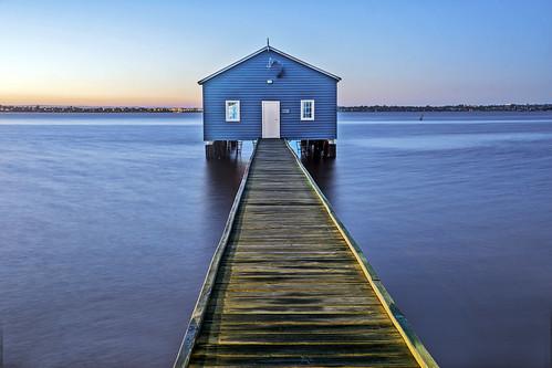 boathouse river water longexposure le wood travel tourism perth sunrise australia