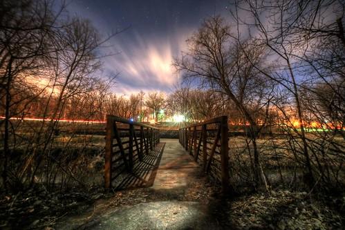 purgatory park minnetonka minnesota mn water spring winter snow hdr trees 5dsr 5ds r night creek rokinon 14mm 28
