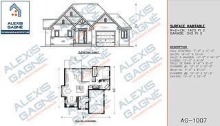 Plan de maison 1 étage avec garage - MM1eG.03