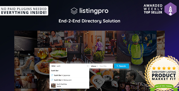 ListingPro v1.0.5 - Directory WordPress Theme