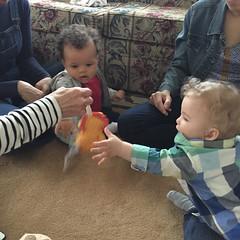 Let the nephew games begin! #unclehood #nephews :baby::baby: ... :monkey_face::monkey_face:
