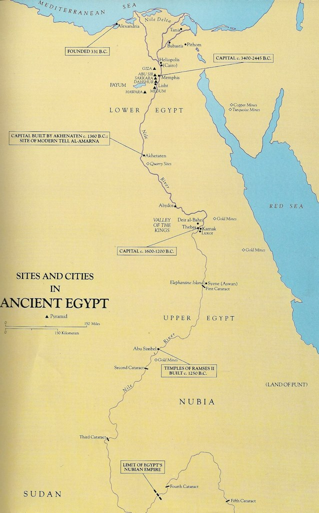 Map Of Ancient Egypt Undated Lower And Upper Egypt As Th Flickr