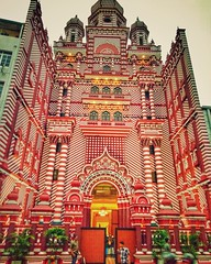 Jami-Ul-Alfar Mosque, Famously Known as Red Mosque, Colombo, Srilanka