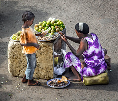 Fruit and nut seller  -  Triadic