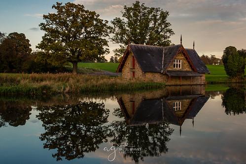 maynooth cartonhouse ireland boathouse reflections sunset trees water canon5dmark3 sightseeing travel