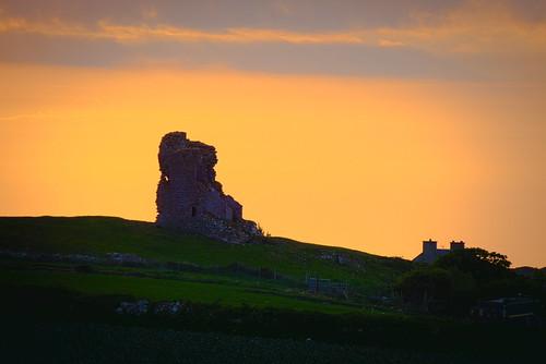 sunset kerry ireland castle rahoneen ardfert
