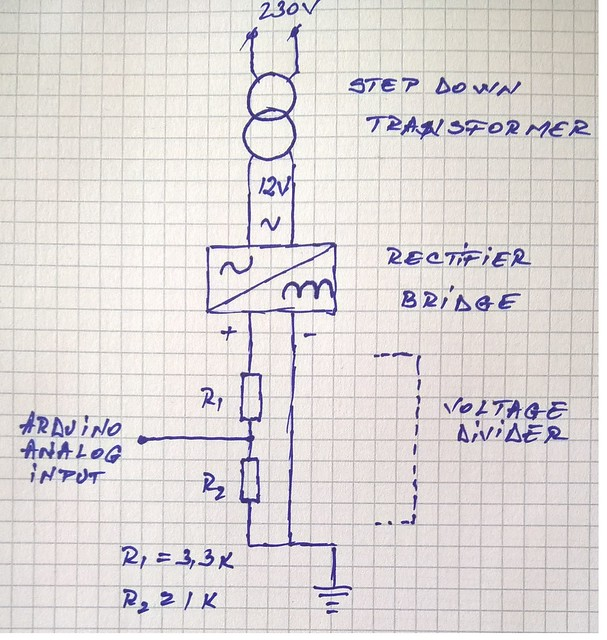 AC voltage reading schematic