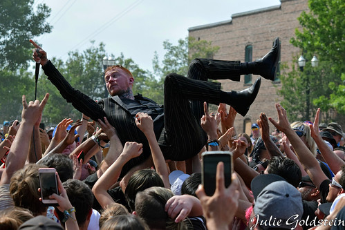 Frank Carter Crowd Surfs