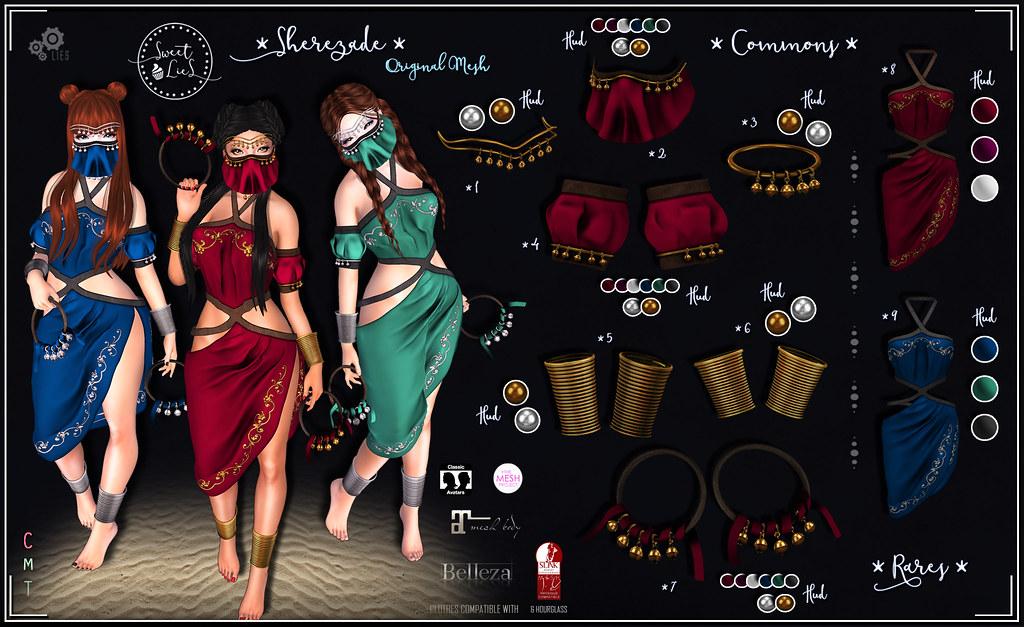 Sherezade Outfit Gacha - Sweet Lies Original - SecondLifeHub.com