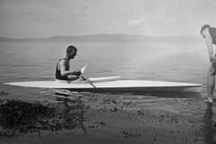 Karl Johan i kajakk på Trondheimsfjorden (1926)