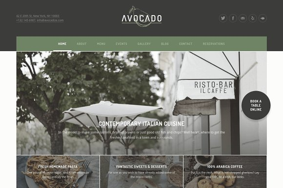 Avocado v1.0.6 - Restaurant WordPress Theme