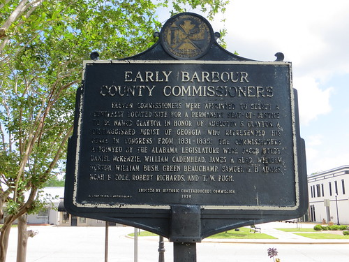 Early Barbour County Commissioners Marker (HCC) Clayton AL