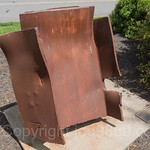 `Never Forget` Steel from the World Trade Center 9-11-01, The Corporate Park of Staten Island, Bloomfield, New York City
