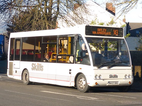 MX07 BBZ 'Skills Coaches' Optare Solo M780SE /2 on 'Dennis Basford's railsroadarunways.blogspot.co.uk'