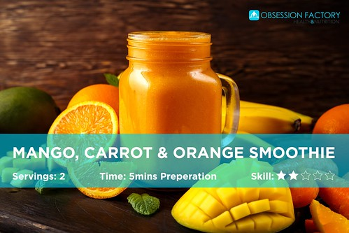 100% Fresh Mango protein smoothie recipe