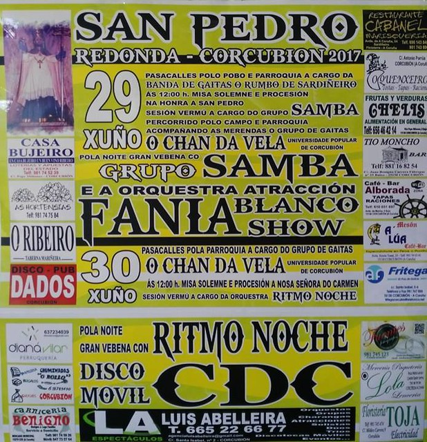 Corcubión 2017 - Festas de San Pedro en Redonda - cartel