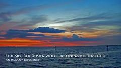 Blue Sky, Red Dusk & Gold Lightning All Together Tampa Bay Florida - IMRAN™