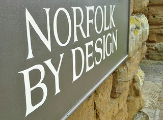 Norfolk by Design sign at the Houghton Hall exhibition