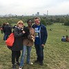 North London Hospice Big Fun Walk - half way at Primrose Hill - with Marie & Squeaky