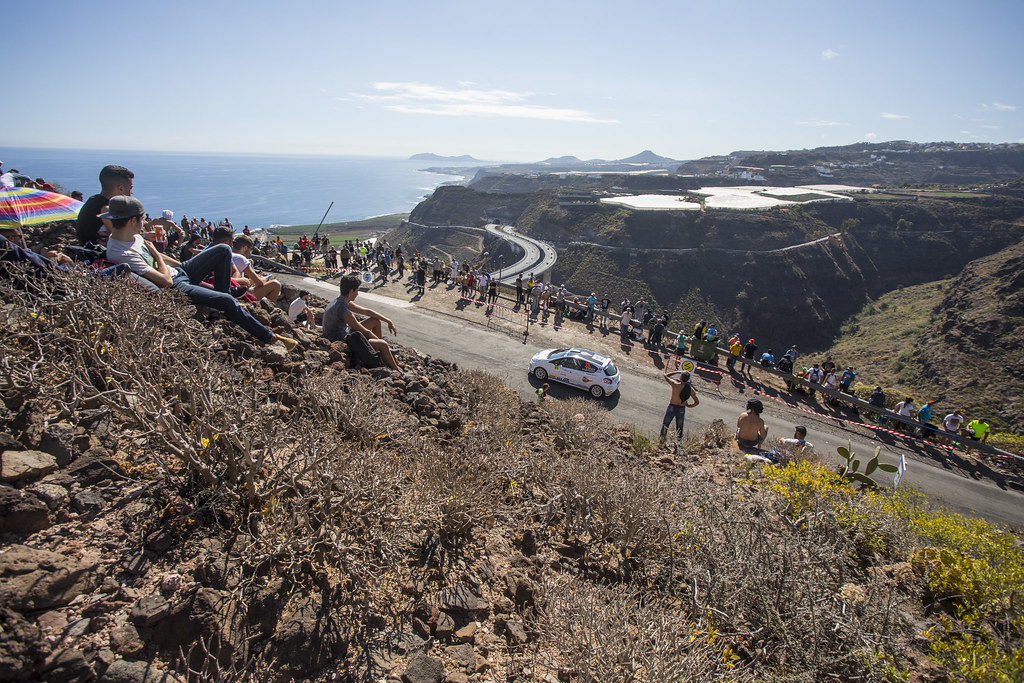 32 BROZ Dominik (CZE),TESINSKY Petr (CZE), Peugeot 208 R2, Action during the 2017 European Rally Championship ERC Rally Islas Canarias, El Corte Inglés,  from May 4 to 6, at Las Palmas, Spain - Photo Gregory Lenormand / DPPI