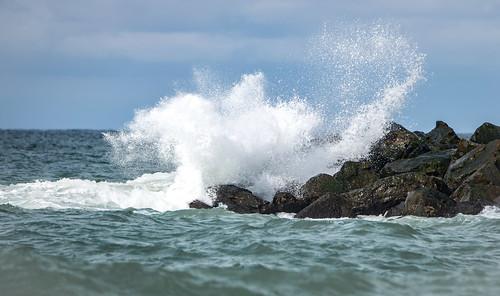 seaspray outdoor nature stones water hurupthy northdenmarkregion denmark dk