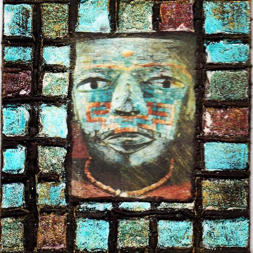 handmade precolumbian mexican mexico aztec instagram cincodemayo art mailart blue