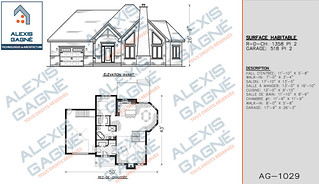 Plan de maison 1 étage avec garage - MM1eG.10
