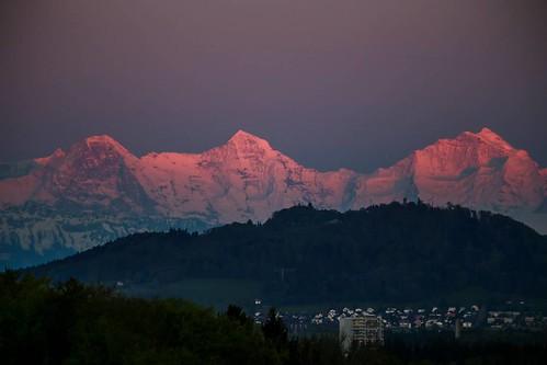 #eiger #mönch #jungfrau at #sunset