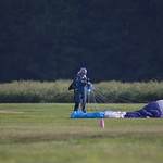 Experienced Skydiver Just After Landing Her Parachute
