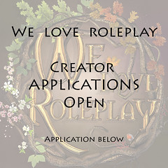 We Love RolePlay is looking for creators!