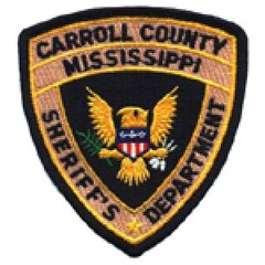 Carroll County Mississippi Sheriff's Department Badge